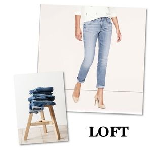 Ann Taylor Loft Relaxed Skinny Jean SZ 8